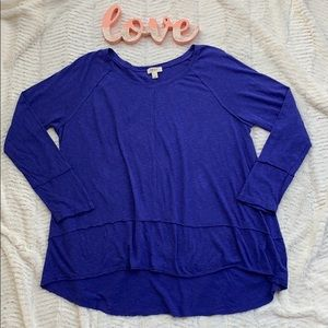 Style & Co Blue Long Sleeve Tee